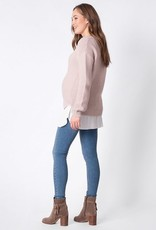 Seraphine Iona Knit And Woven Top