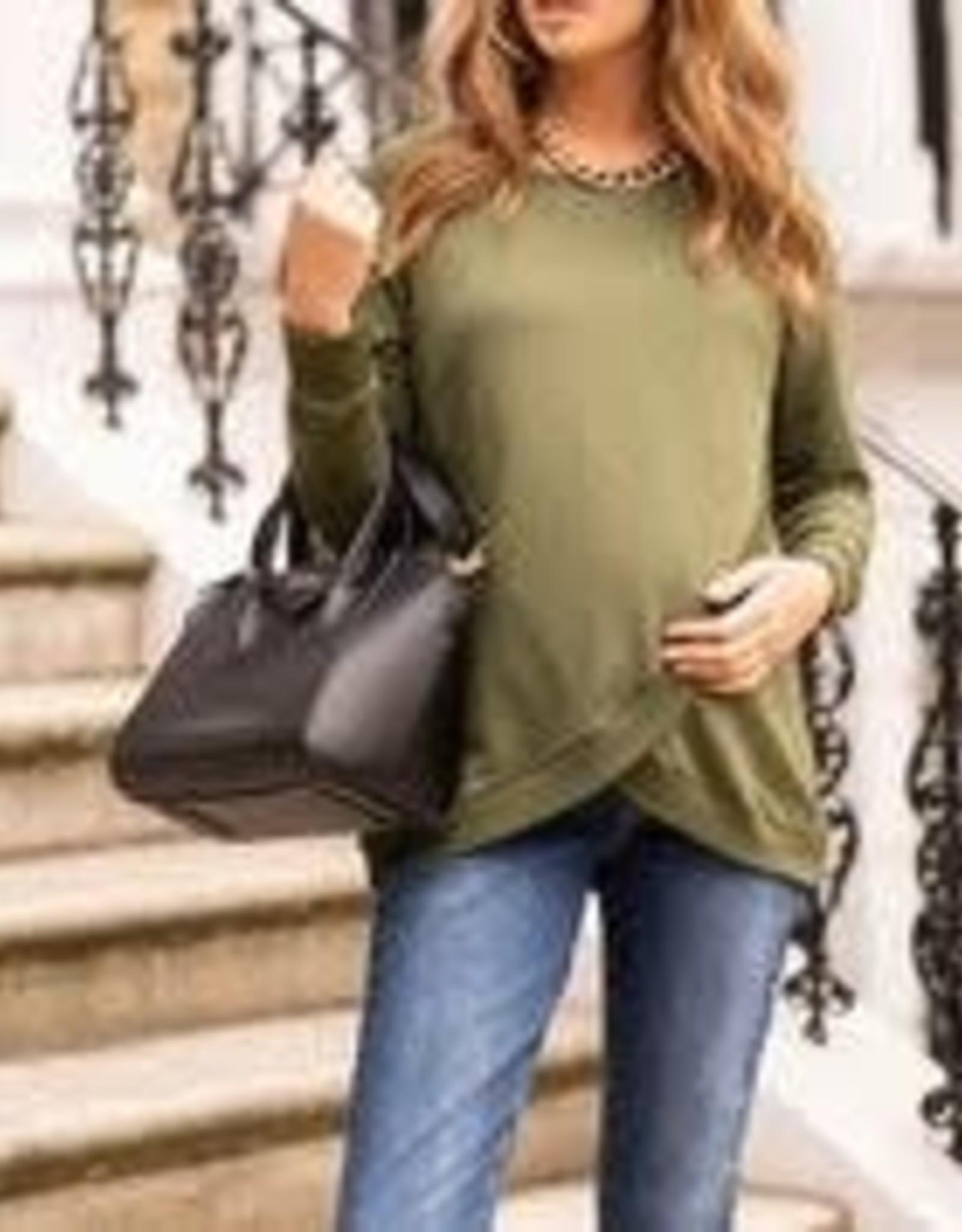 Seraphine Sybil Front Wrap Sweatshirt