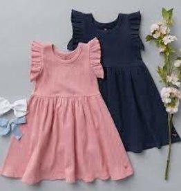 Pink Chicken Ruffle Rib Dress