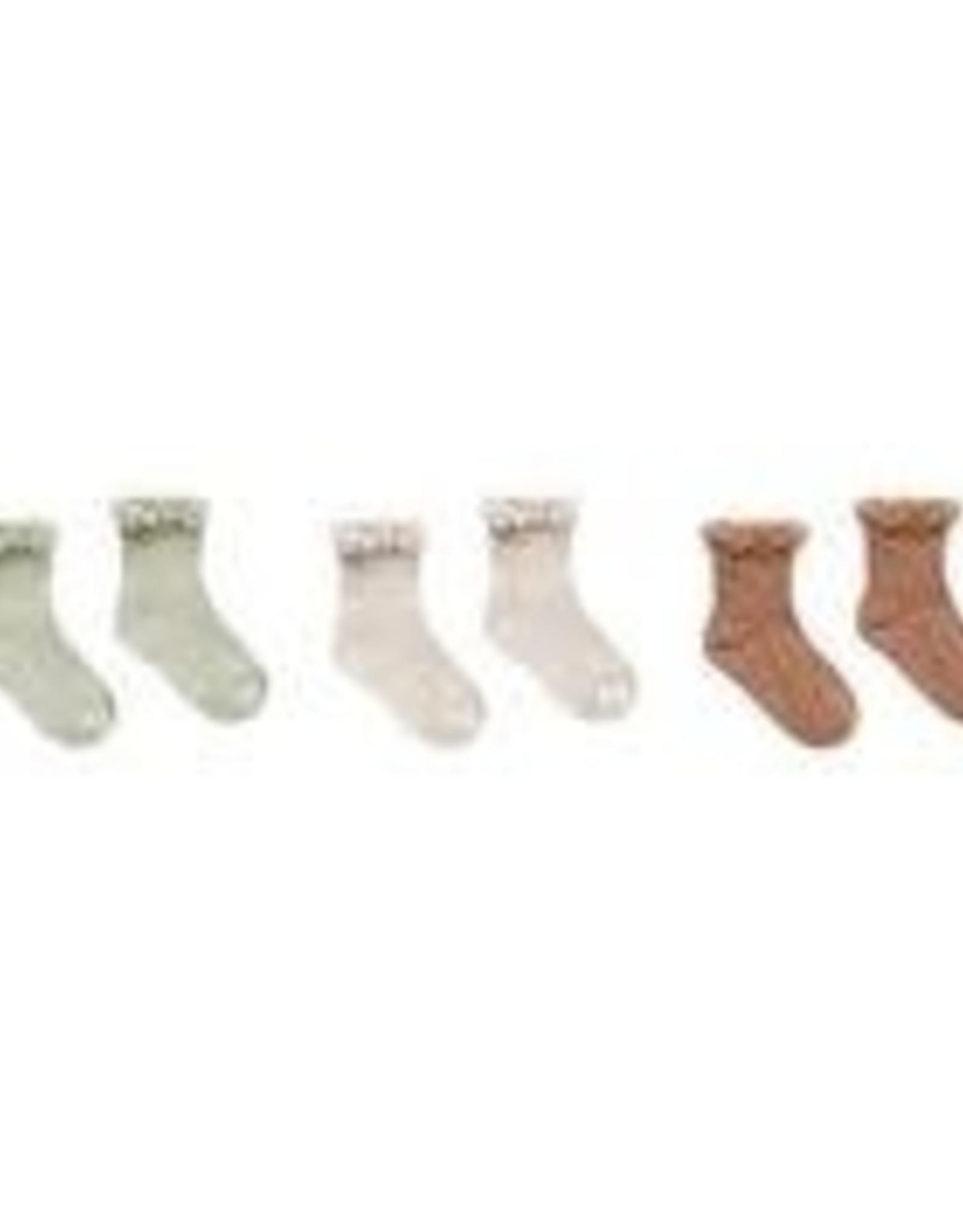 Rylee +Cru Lace Trim Socks 3 PK