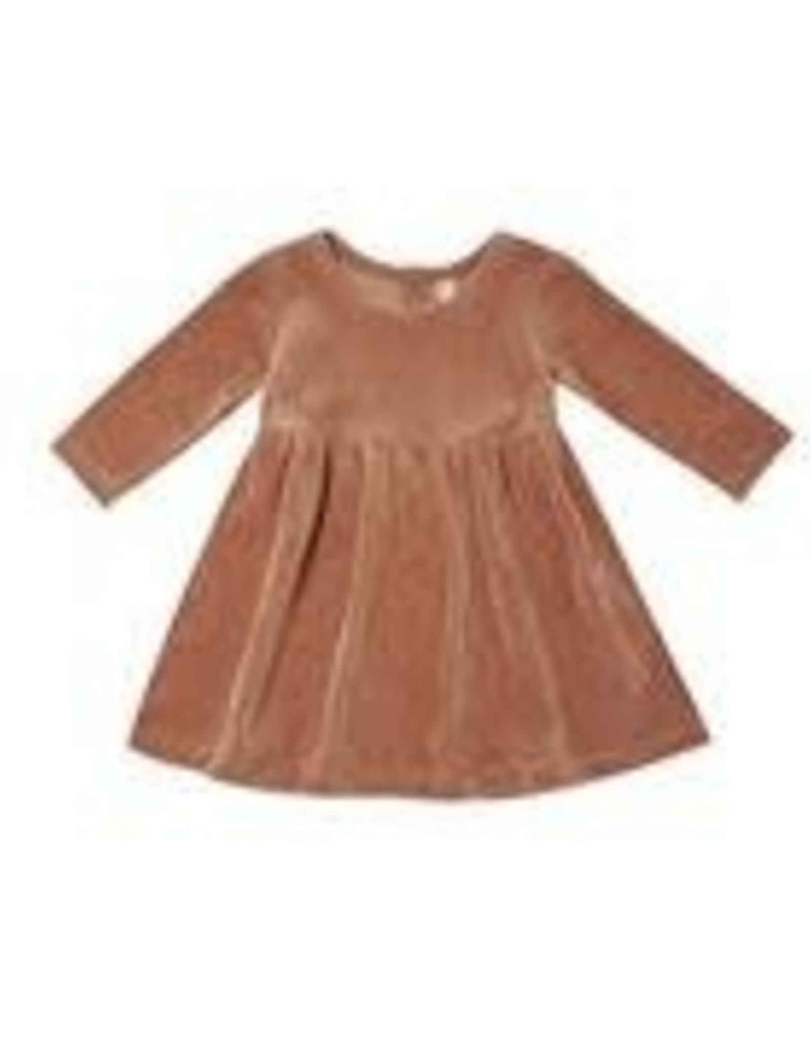 Quincy Mae Velour Longsleeve Dress