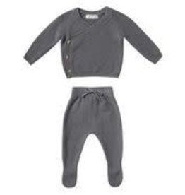 Quincy Mae Knit Wrap Top and Pant Set