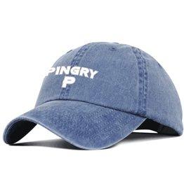Baseball cap-washed indigo