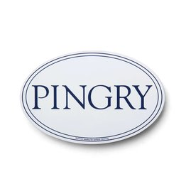 Car Magnet-oval-PINGRY-White/Blue