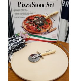 PINGRY Pizza Stone set-13 inch-Boxed