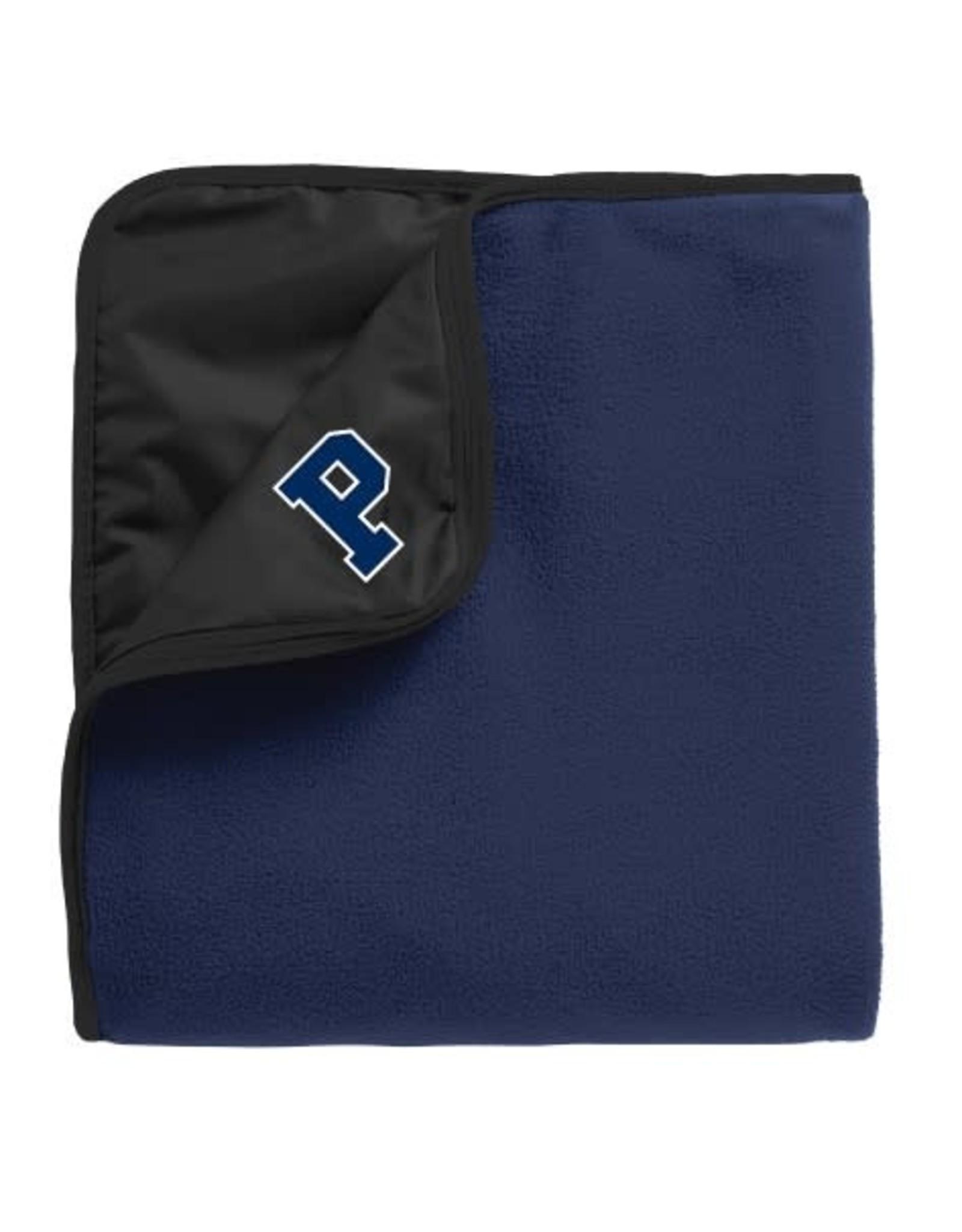 Fleece Picnic Blanket-Blue/Black-50 x 60