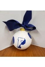 Ceramic Ornament-Navy/White