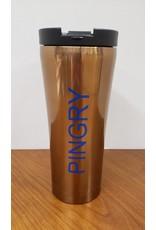 Travel Mug-polished copper-insulated-16 oz