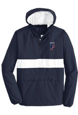 Anorak-hooded w/zipper pocket