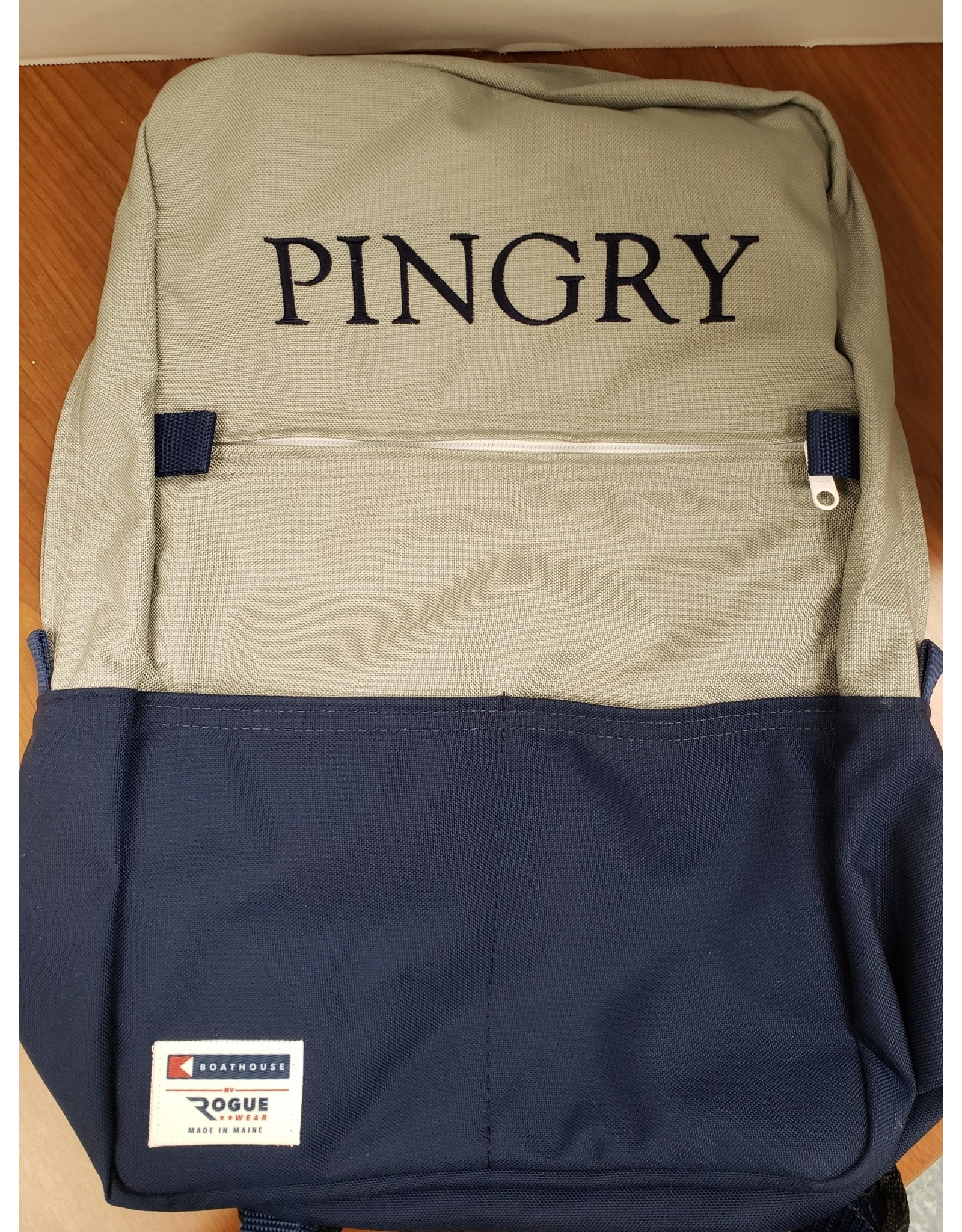 Boathouse Backpack-Navy/Gray-12 x 18 x 6