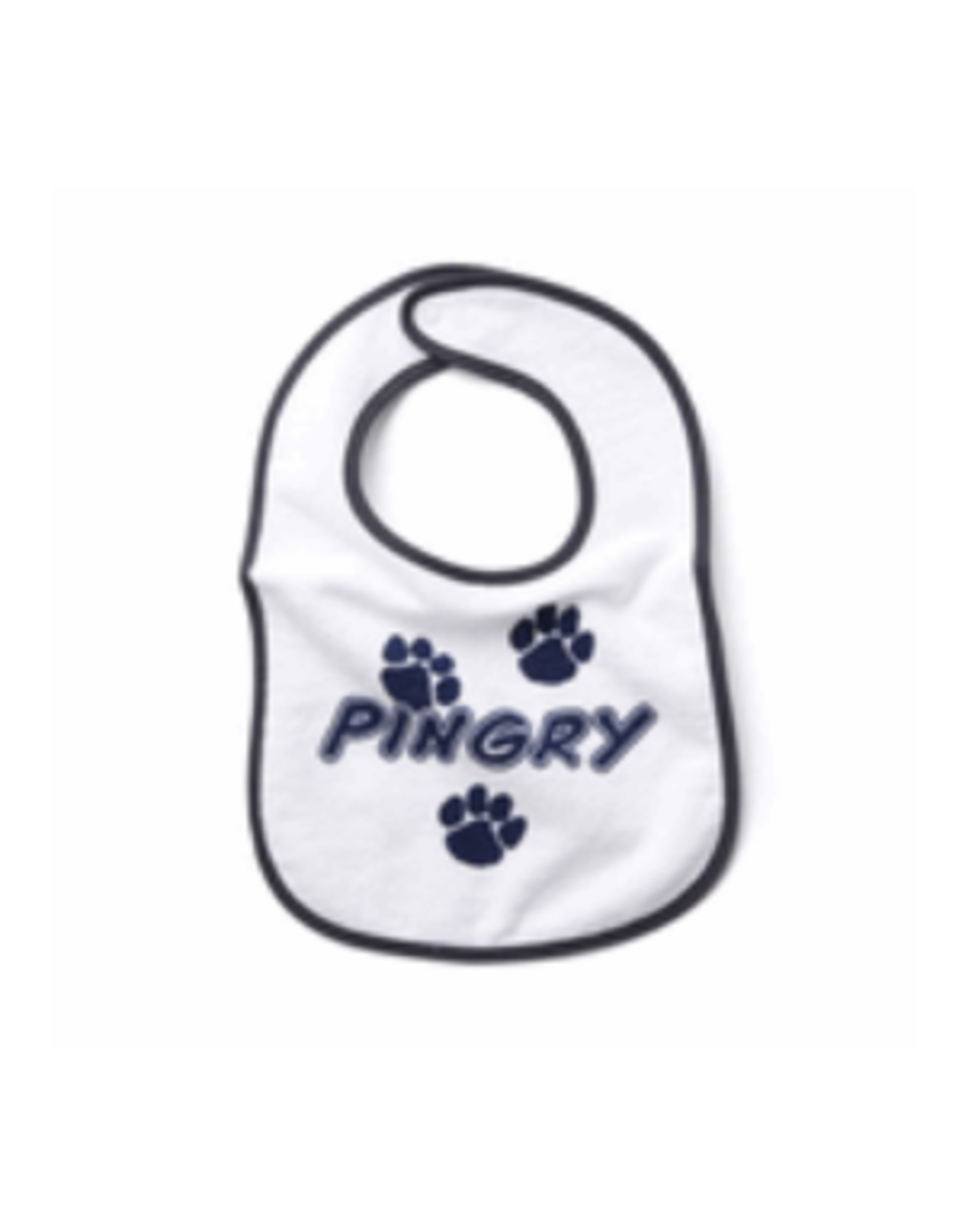 Baby Bib-White-embroidered in Blue
