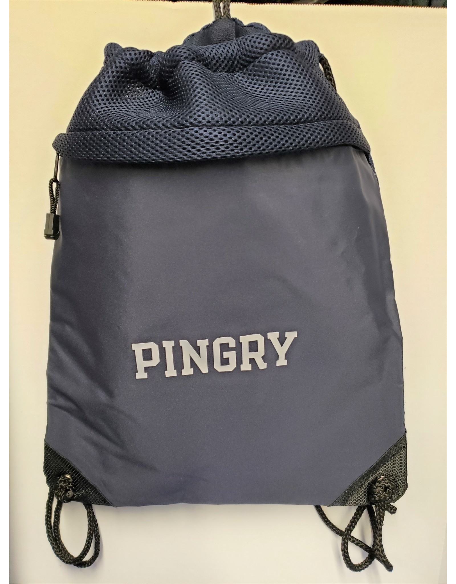 Cinch Pack with Mesh-Navy