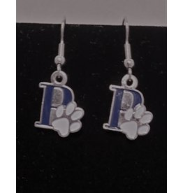 Paw Print earrings-P'in blue with paw print