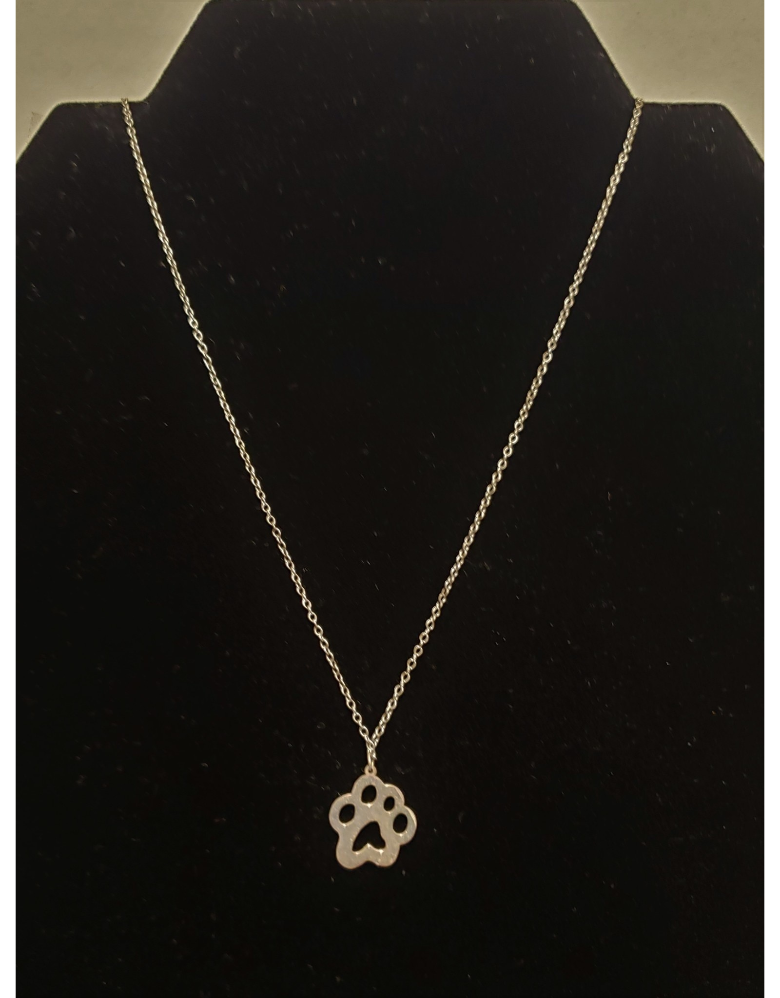 Bear paw necklace-sterling silver