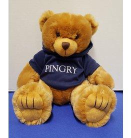 Teddy Bear-2017-caramel bear with navy hoodie-12 inch