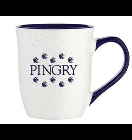 Pingry Mug w/paws(white and cobalt)