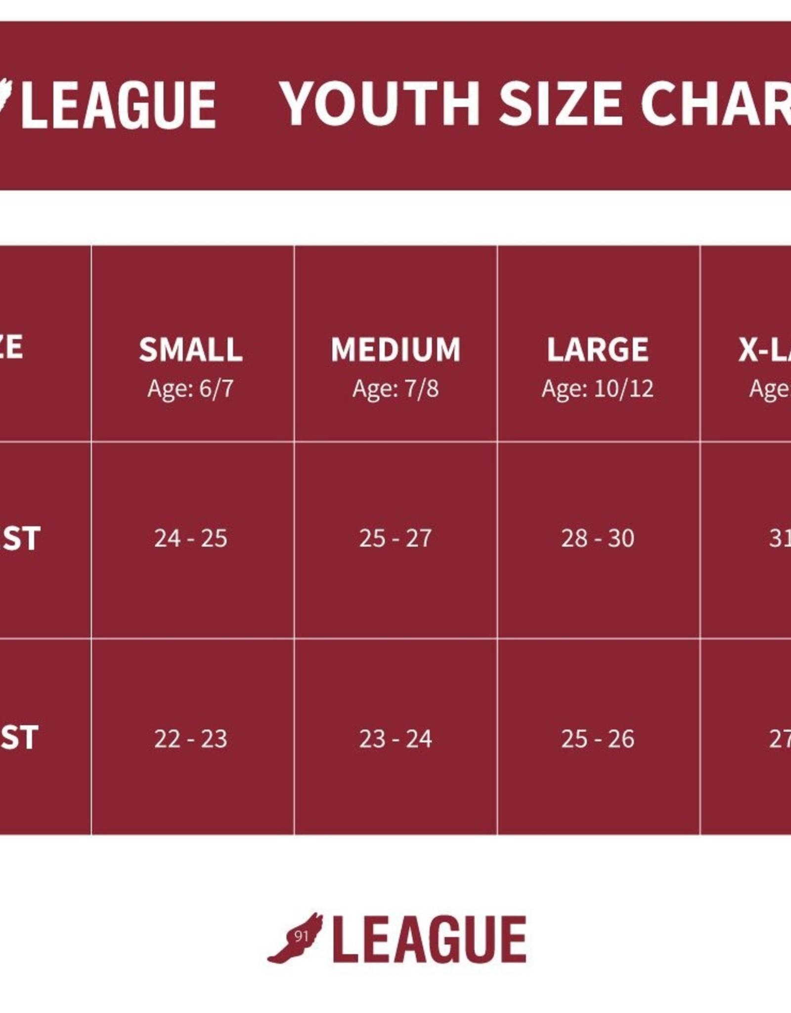 League League Girls Camp Ringer Tee - Royal