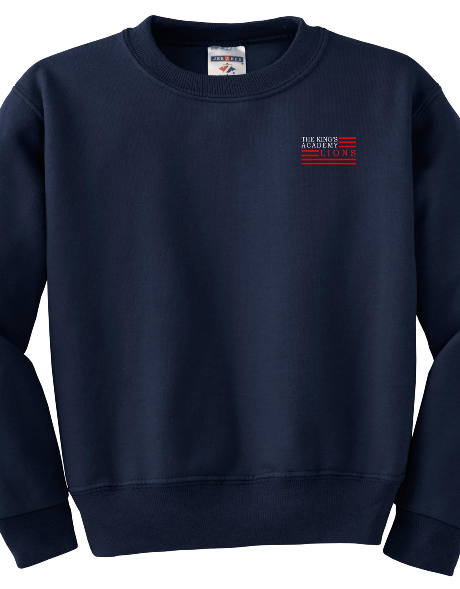 School Apparel Navy Crew Sweatshirt