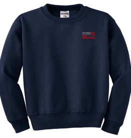 School Apparel Navy Crew Sweatshirt
