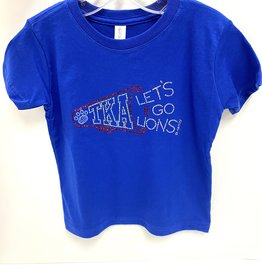 SAS Bling Sparkle Cheer Girls Tee