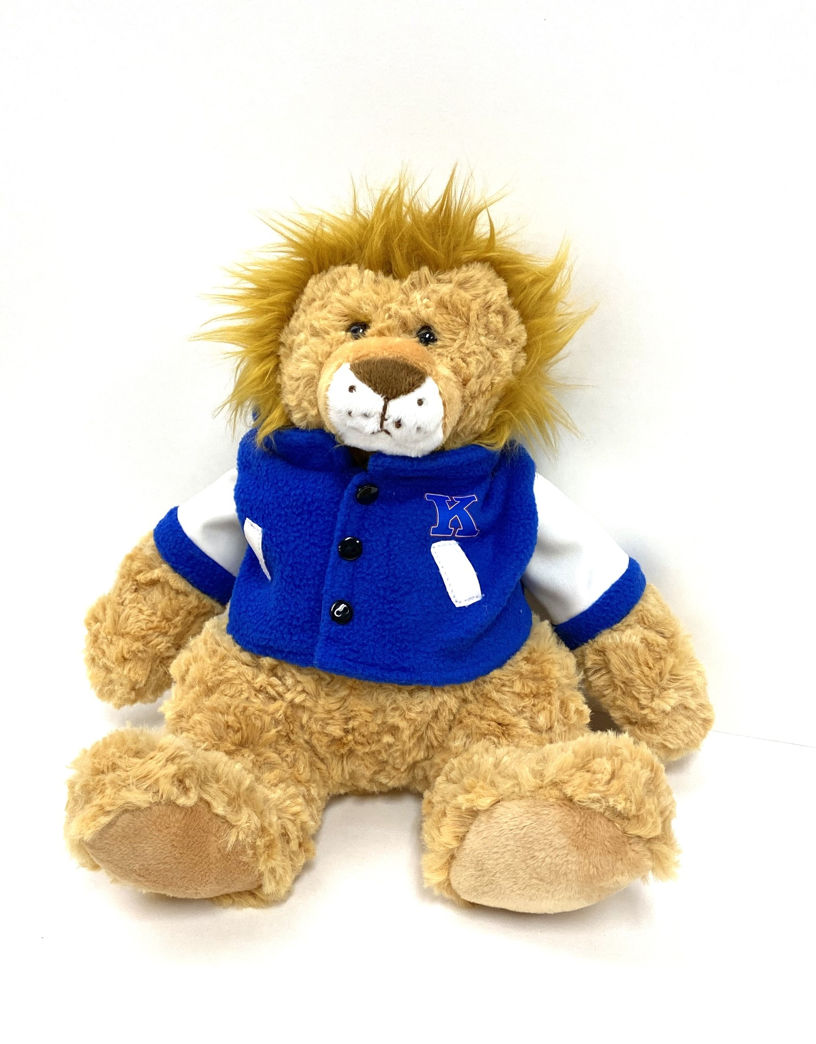 Mascot Factory Plush Lion w/ Letter Jacket