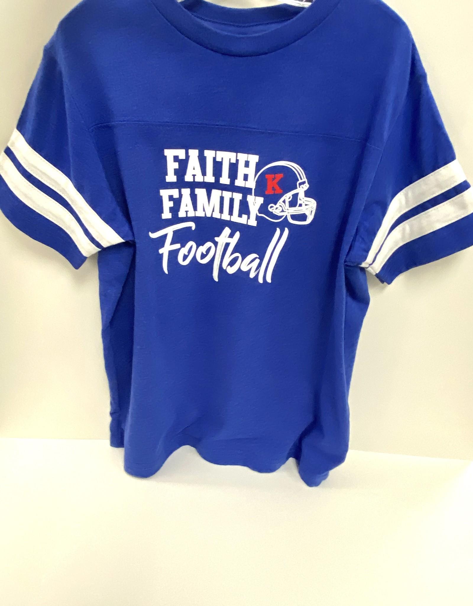 LAT Faith Family Football Tee