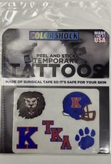 CDI Football Face Temporary Tattoos pack