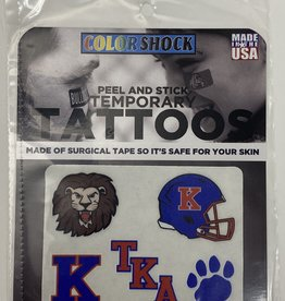CDI Football Face Temporary Tattoos pack