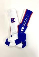 TCK TCK Socks: White w/ K