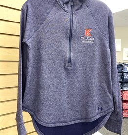 Under Armour Ladies Under Armour Threadborne 1/2 Zip - Heathered Navy
