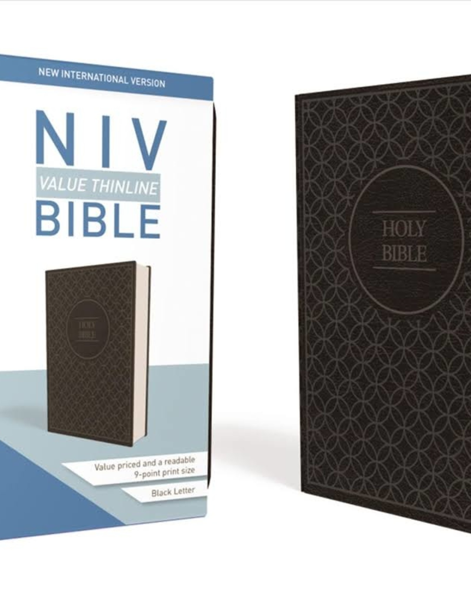 HarperCollins Christian Publishing NIV Thinline Bible - Black Geometric