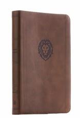 HarperCollins Christian Publishing NKJV Thinline Bible Youth Edition - Brown w/ Lion