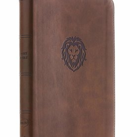 HarperCollins Christian Publishing NKJV Thinline Bible Youth Edition - Brown w/ Lion