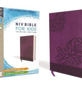 NIV Bible - Purple Floral