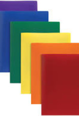 Office Depot Plastic Folder without Prongs - Assorted Colors