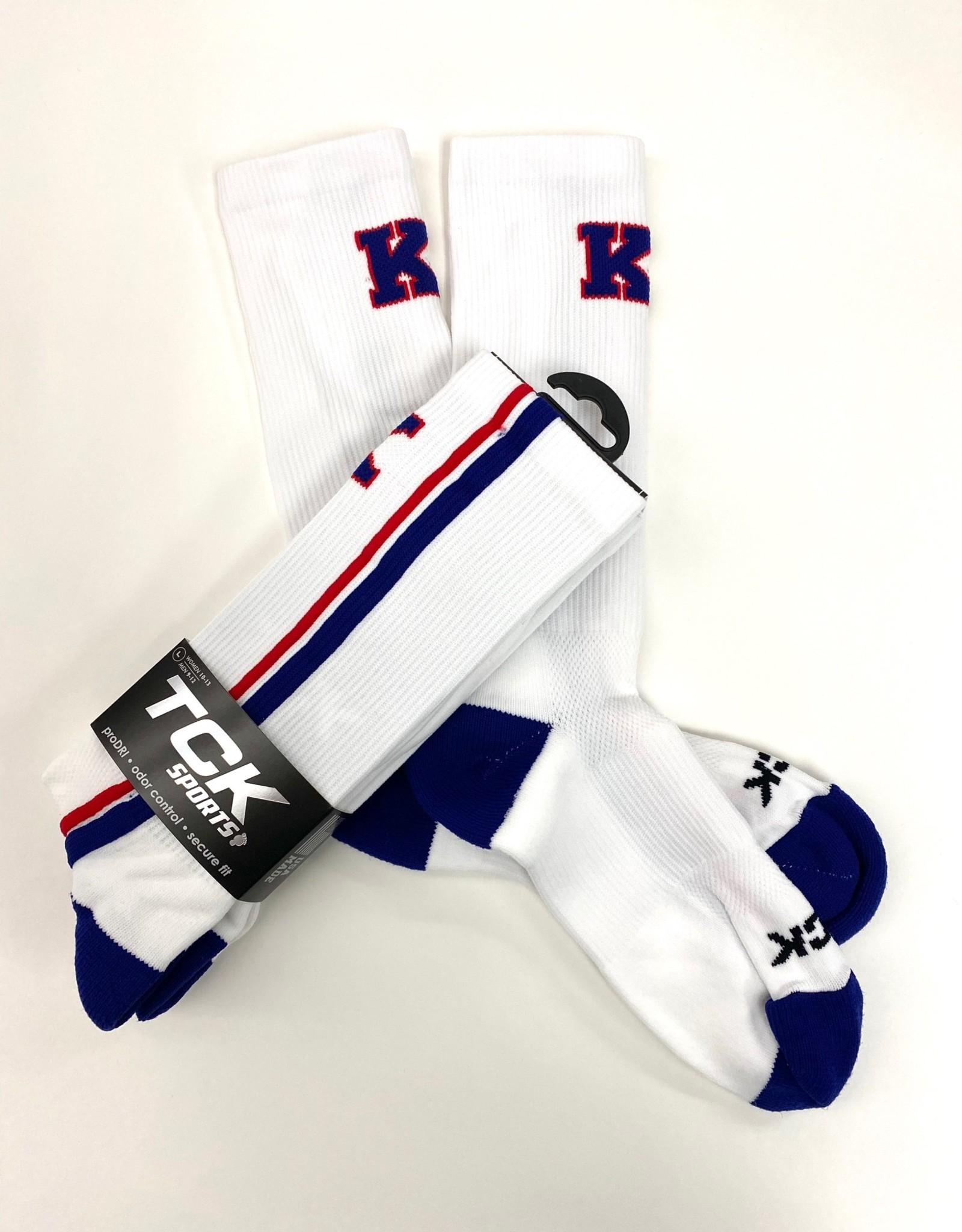 TCK TCK Socks: Double Stripes w/ K