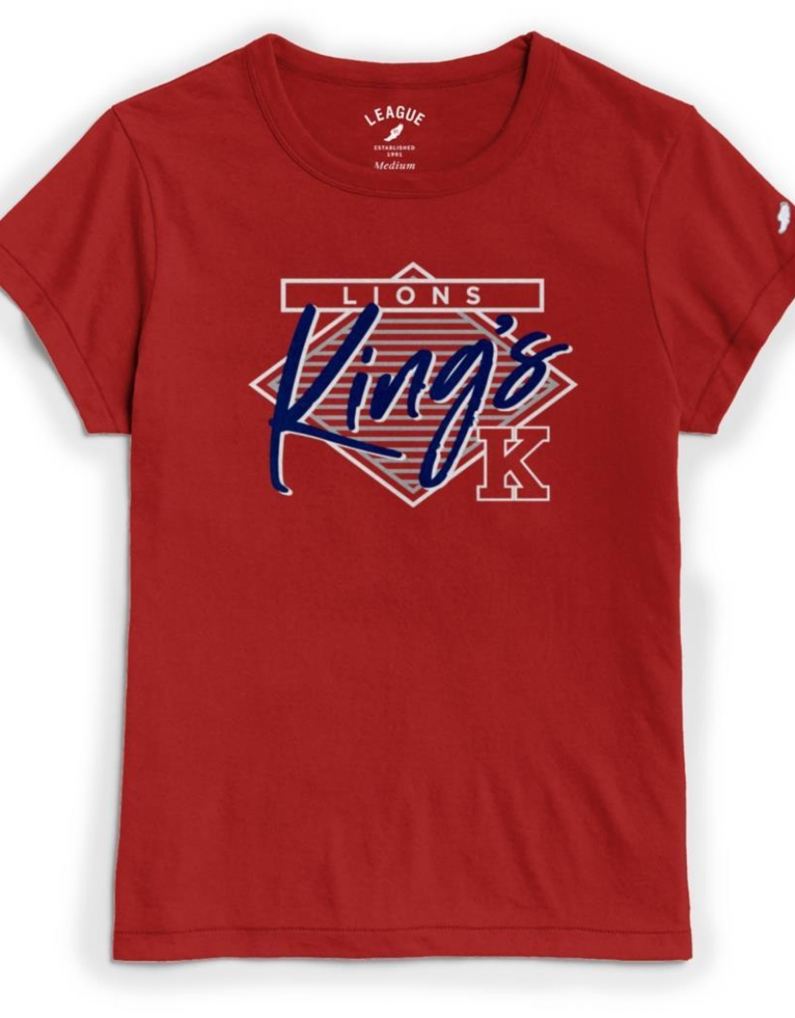 League League Respin Ladies Tee - True Red