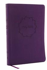 NKJV Thinline Bible - Purple w/ Wreath