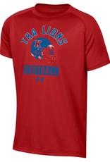 Under Armour Under Armour Football Helmet Boys Tee- Flawless Red