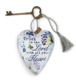 Demdaco Trust in the Lord Art Heart