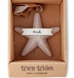 Demdaco Warm Wishes Mini Starfish Ornament