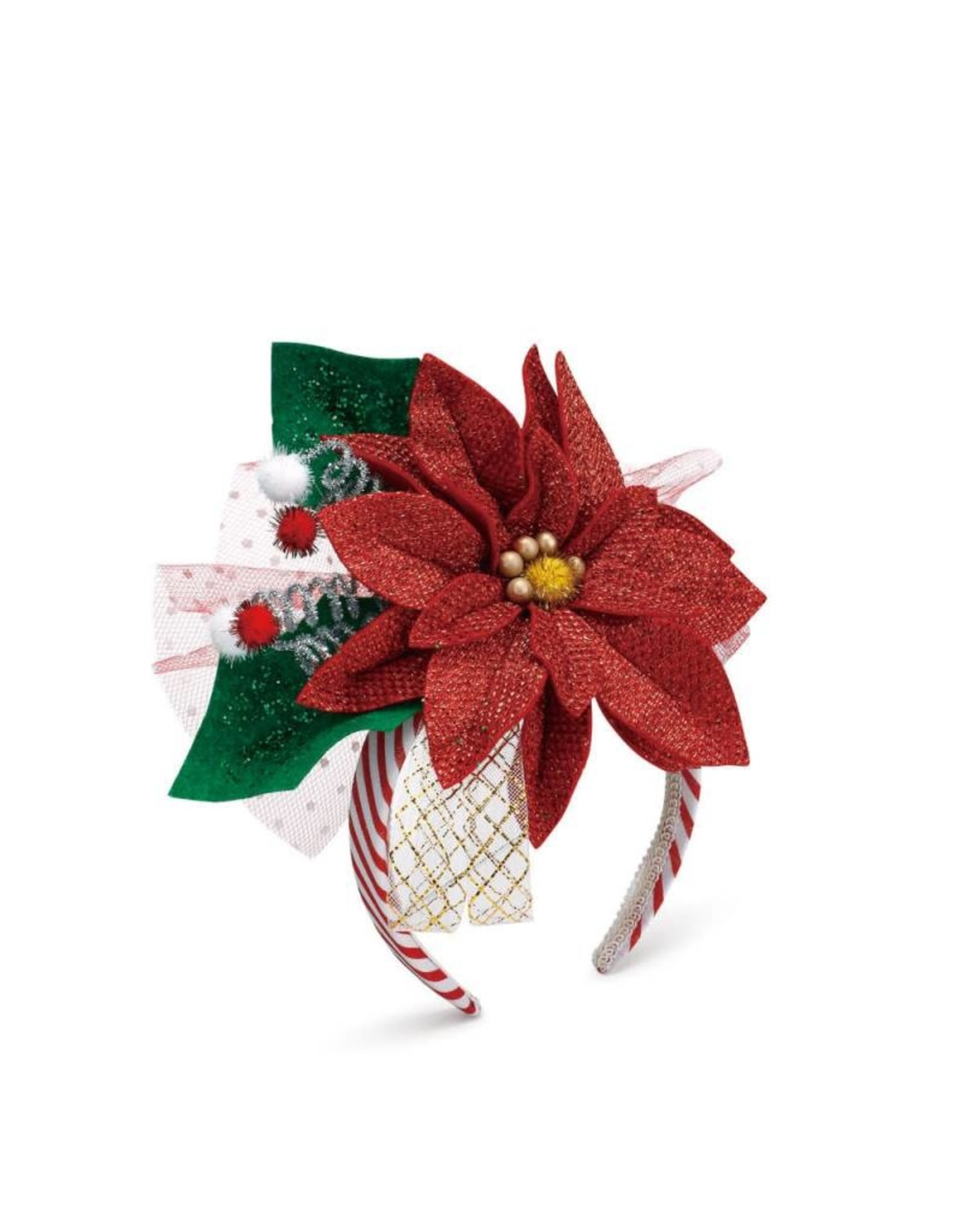 Demdaco Poinsettia Headband