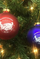 Demdaco TKA Glass Christmas Bulb - Royal or Red