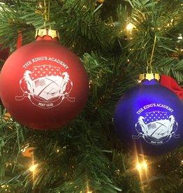 Demdaco TKA Glass Christmas Bulb - Royal or Red