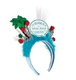 Demdaco White Christmas Headband
