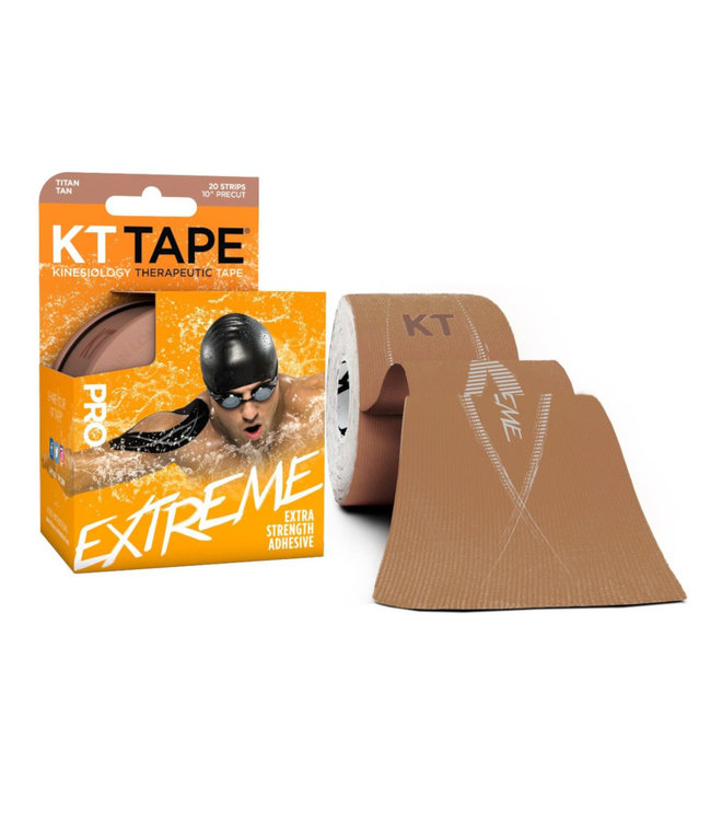 "KT Tape Ruban PRO Extreme 20 Strip 10"" Pre-cut"