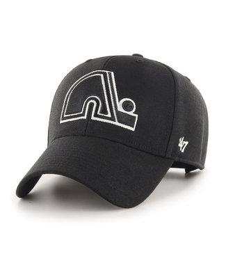 47 Brand Casquette NHL Basic 47 MVP des Nordique de Québec Noir/Blanc