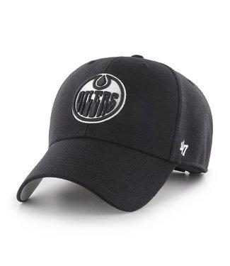 47 Brand Casquette NHL Basic 47 MVP des Oilers d'Edmonton Noir/Blanc