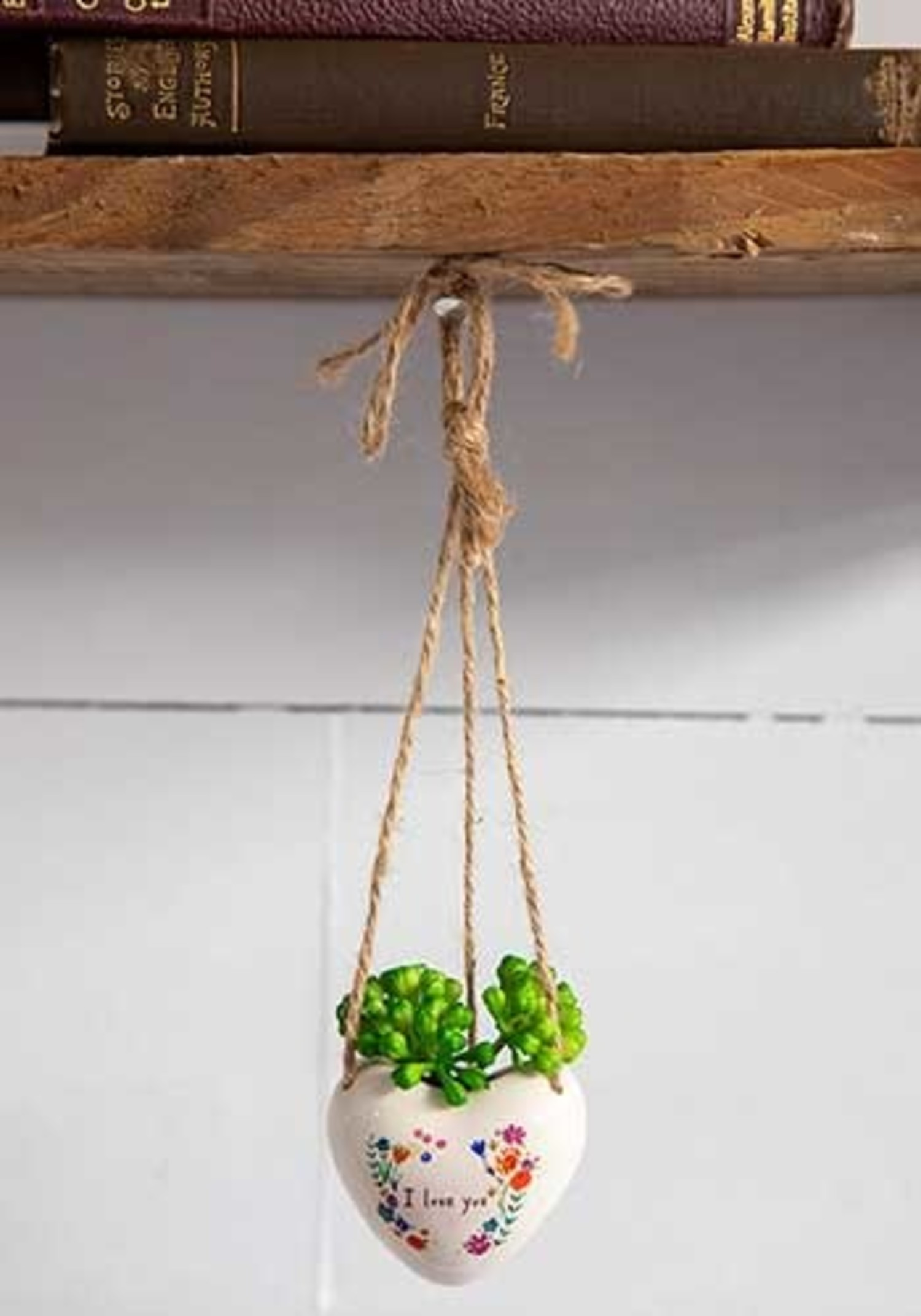 Mini Hanging Succulent I Love You Heart The District On Main