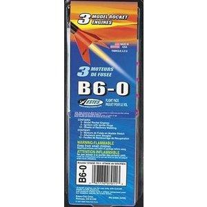 Estes Rockets . EST B6-0 Model Rocket Engines (3)